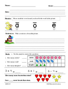 Math And Reading Worksheet