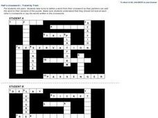 Half a crossword - Travels by Train Worksheet