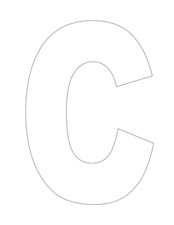The Letter C-- Hollow Worksheet