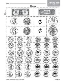 Money-- Grade 1 Worksheet