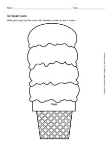 Ice Cream Cone Graphic Organizer Graphic Organizer For 2nd 3rd