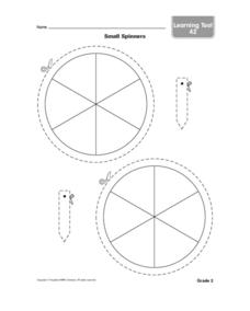 Small Spinners Worksheet
