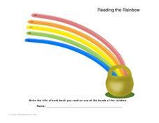 Reading the Rainbow Lesson Plan