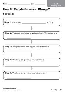 How Do People Grow and Change? Graphic Organizer