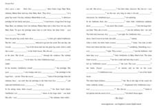 Simple Past Verbs-- Goldilocks Worksheet
