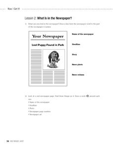 What is in the Newspaper? Worksheet