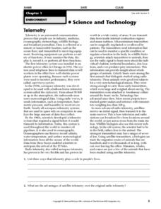 Telemetry Worksheet