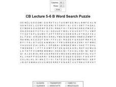 CB Lecture 5-6 B Word Search Puzzle Worksheet