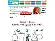 Circus of Shapes: Squares Worksheet