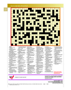 Basics About Beef, Crossword Worksheet