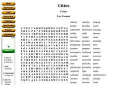 Cities Worksheet
