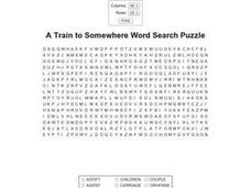 A Train to Somewhere Worksheet
