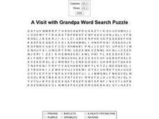 A Visit with Grandpa Worksheet
