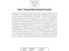 Unit 1 Vocab Worksheet