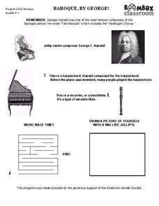 George Handel Worksheet