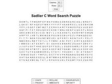 Sadlier C Word Search Puzzle Worksheet
