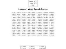 Lesson 1 Word Search Puzzle Worksheet