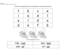Find Some Homophones Worksheet