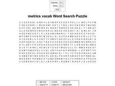 Metrics Vocab Worksheet