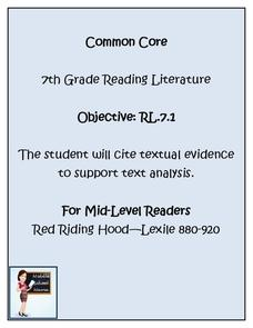 Citing Textual Evidence Lesson Plan