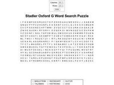 Stadler Oxford G Word Search Puzzle Worksheet