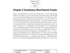 Chapter 2 Vocabulary Word Search Puzzle Worksheet