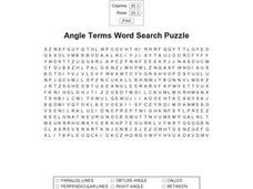 Angle Terms Word Search Puzzle Worksheet