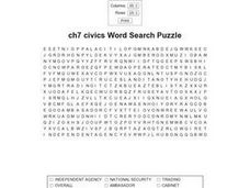 Ch7 Civics Word Search Puzzle Worksheet