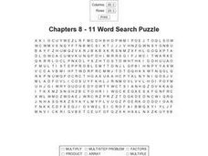 Chapters 8 - 11 Word Search Puzzle Worksheet