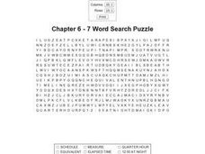Chapter 6 - 7 Word Search Puzzle Worksheet