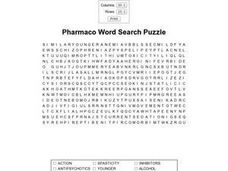 Pharmacology Word Search Worksheet