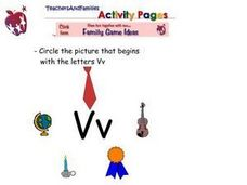 Picture Association With the Letters Vv Worksheet
