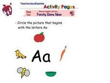 Circle the Pictures that Begin with the Letter A Worksheet