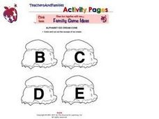 Alphabet Ice Cream Cones- B, C, D, E Worksheet