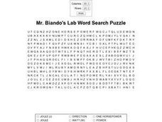 Mr. Biando's Lab Word Search Worksheet