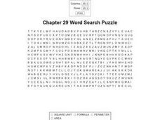 Chapter 29 Word Search Puzzle Worksheet