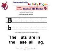 Practicing the Letter B Worksheet