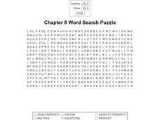 Chapter 8 Word Search Worksheet