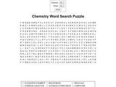 Chemistry Word Search Worksheet