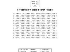 Flocabulary 1 Word Search Worksheet