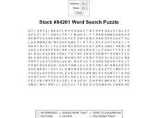 Stack #84201 Word Search Worksheet
