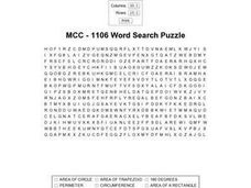 MCC - 1106 Word Search Worksheet