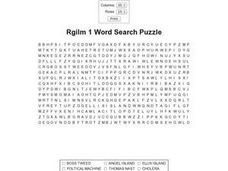 Rgilm 1 Word Search Worksheet