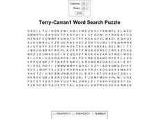 Terry-Carran1 Word Search Puzzle Worksheet