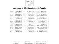 Ms. Good Ch15-1 Word Search Worksheet