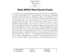 Stack #97814 Word Search Worksheet