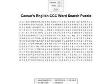 Caesar's English CCC Word Search Puzzle Worksheet