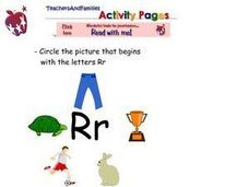 Circle the Picture that Begins with the Letter Rr Worksheet