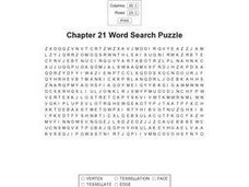 Chapter 21 Word Search Puzzle Worksheet
