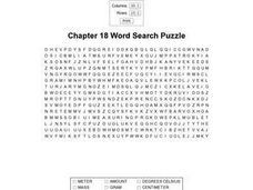 Chapter 18 Word Search Puzzle Worksheet